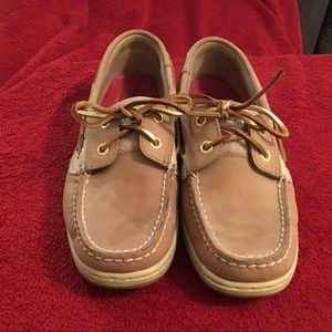 Gold Speery Top-Sider boat shoes size 7.5